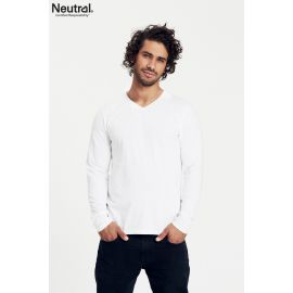Neutral Mens Longsleeve V-Neck T-Shirt
