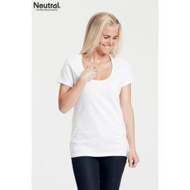 Neutral Ladies Deep O-Neck T-Shirt