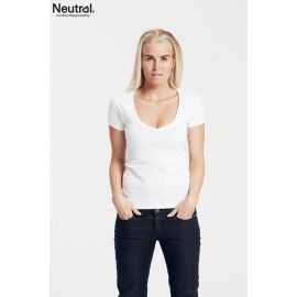 Neutral Ladies Deep V-Neck T-Shirt