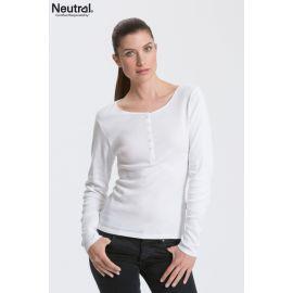 Neutral Ladies Longsleeve Granddad T-Shirt