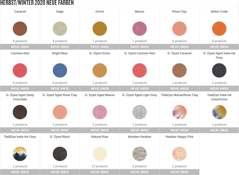 Stanley Stella Farben Colours