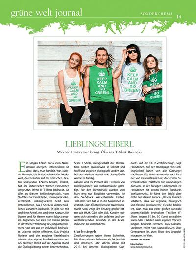 Kurier Grüne Welt Journal